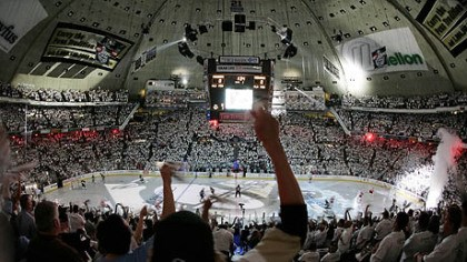 Mellon Arena The Penguins will play their final regular season game at Mellon Arena tonight.