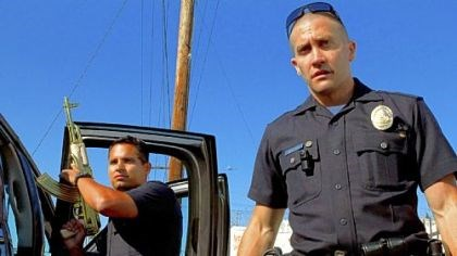 "Michael Pena and Jake Gyllenhaal Michael Pena and Jake Gyllenhaal star as police officers in ""End of Watch."""