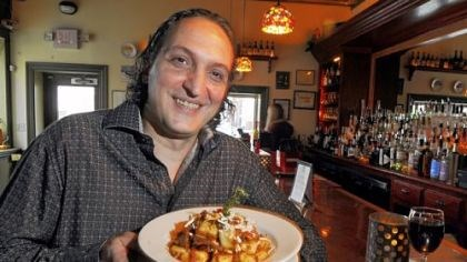 Michele Savoia Michele Savoia, owner of Dish Osteria and Bar, South Side, with gnocchi al ragu di cinghiale (gnocchi with wild boar).