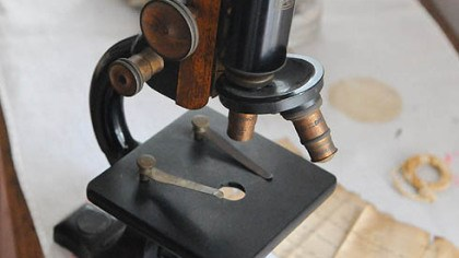 Microscope An antique microscope will be on auction at Rachel Carson Homestead in Springdale.