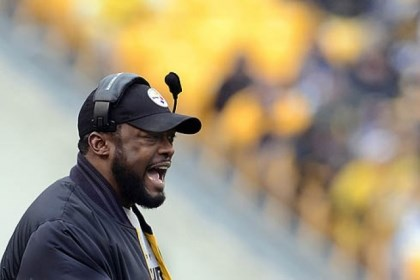 Mike Tomlin file yelling Steelers head coach Mike Tomlin.