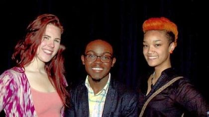 Monologue contest Representing Pittsburgh in the August Wilson Monologue Competition in New York were, from left, Emily L. Kolb; DeVaughn Robinson, who took third place; and Heaven Bobo