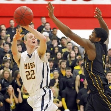 Montour basketball Montour's Justin Hill, right, and the Spartans are seeking their third consecutive trip to the PIAA final.