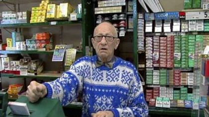 Morris Goldstein Morris Goldstein, 95, sells lottery tickets and cigarettes at Frank's News in Scranton. He cast his first vote for FDR, in the days the city boomed. Now, he says, people are struggling and he hopes the 2008 election will change things.