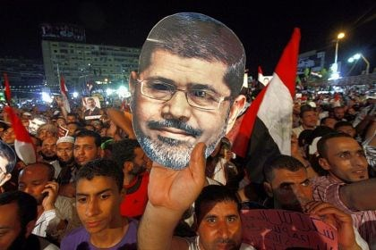 morsiiiiiii Supporters of ousted Egyptian President Muhammad Morsi protest his removal.