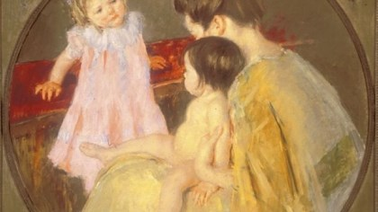 "'Mother and Two Children' Mary Cassatt's ""Mother and Two Children"" from the collection of the Westmoreland Museum of American Art."