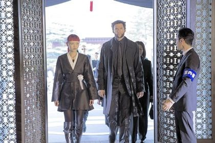 "Movie review: 'The Wolverine' Rila Fukushima, left, and Hugh Jackman's paths cross in ""The Wolverine."""