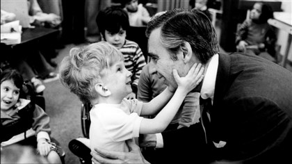 mr rogers viral photo The image of Mister Rogers that went viral after the shootings in Newtown, Conn., was taken at the Children's Institute in Pittsburgh.