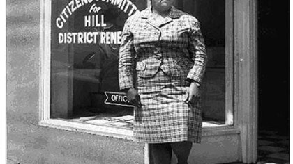 Mrs. Frankie Pace of Pace's Citizen's Committee for Hill District Renewal Mrs. Frankie Pace of Pace's Citizen's Committee for Hill District Renewal Office circa 1960-1975