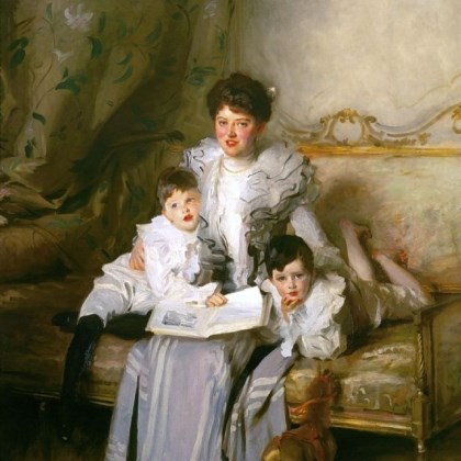 "Mrs. Knowles and Her Children ""Mrs. Knowles and Her Children,"" 1902, oil on canvas, is in the collection of the Butler Institute of American Art in Youngstown, Ohio."