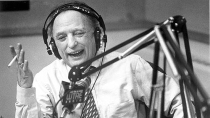 Myron Cope Myron Cope at the radio microphone in 1995.