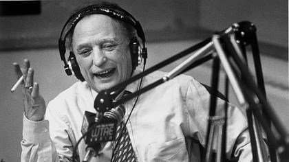 Myron Cope Myron Cope works his WTAE final radio show in 1995.