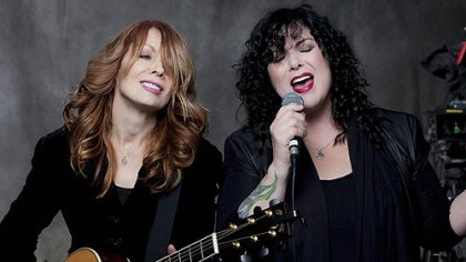 "Nancy and Ann Wilson Heart's Nancy and Ann Wilson are about to release ""Fanatic."""