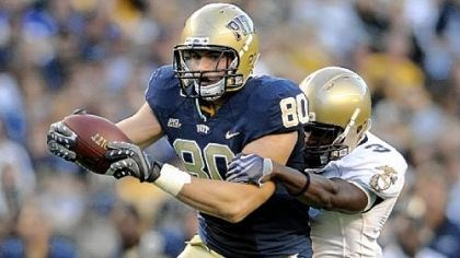 Nate Byham Pitt tight end Nate Byham will be expected to help combat Notre Dame's pass rush.