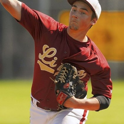 New Brighton Baseball New Brighton's Jake Debo has played a key role in the Lions' success this season.
