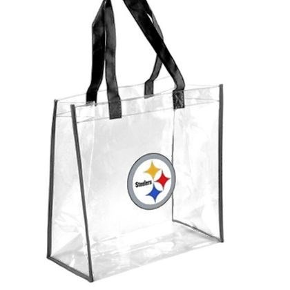 NFL bag Clear tote bag sold by the NFL is one option for fans going to the game.