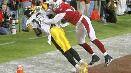 No. 1 Play Pittsburgh Steelers wide receiver Santonio Holmes's 6-yard touchdown catch in Super Bowl XLIII -- one of the greatest finishes in Super Bowl history.