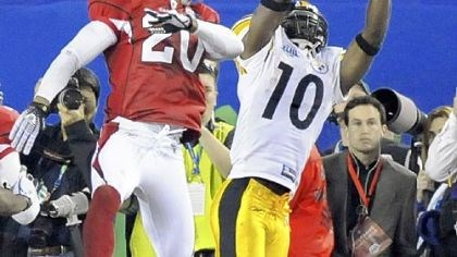 No. 1: Tone's toes The Steelers' Santonio Holmes' toe-tapping, game-winning touchdown in Super Bowl XLIII, the play of the decade.