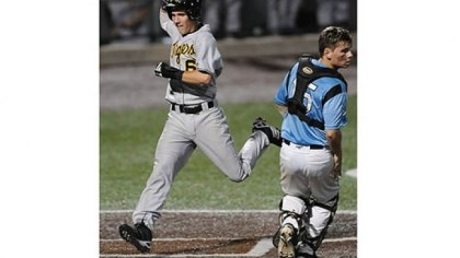 North Allegheny's Brandon Bergstrom North Allegheny's Brandon Bergstrom celebrates as he scores in front of Seneca Valley's Bradley Gresock in the WPIAL class AAAA championship at Consol Energy Park Wednesday night.