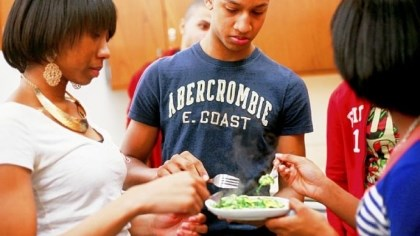 Obama Academy students Obama Academy students taste eggs multiple ways, prepared for breakfast-foods class by chef and food writer Hal B. Klein.