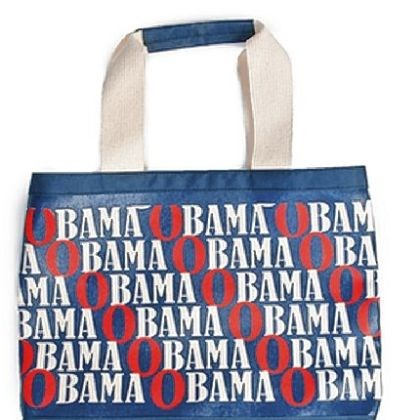 Obama canvas totte Custom canvas tote bag designed by Tory Burch.