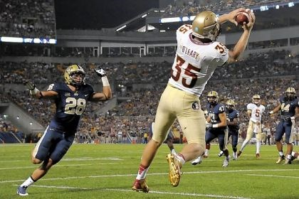 oleary Florida State tight end Nick O'Leary makes one of his three touchdown catches Monday night against Pitt.