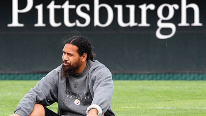 On the sidelines ... for now Troy Polamalu is not practicing at minicamp as he is recovering from knee surgery.