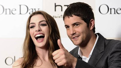 "One Day stars Hathaway and Sturgess Actors Anne Hathaway and Jim Sturgess attend the premiere of ""One Day"" on Monday, Aug. 8, in New York."