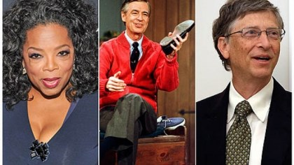 Oprah Winfrey, Fred Rogers and Bill Gates There are leadership lessons in the style of Oprah Winfrey, Fred Rogers and Bill Gates.
