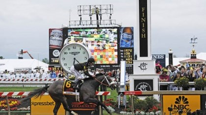 Oxbow at the Preakness Oxbow, ridden by jockey Gary Stevens, wins the 138th Preakness Stakes horse race at Pimlico Race Course.