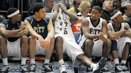 Panthers DeJuan Blair can't watch as the Panthers lose to West Virginia in the quarterfinals of the 2009 Big East tournament.