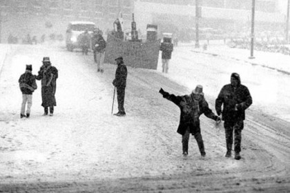 ParadeBlizzard In this March 13, 1993, photo, spectators slide down the parade route on Sitxth Avenue just before the turn on Fift Avenue next to what was the County Jail.