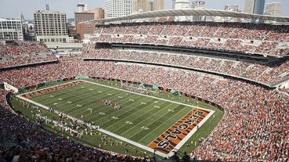 Paul Brown Stadium Paul Brown Stadium in Cincinnati, where the Steelers will play the Bengals Oct. 21.