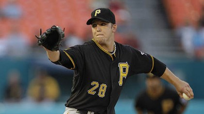 Paul Maholm Pirates pitcher Paul Maholm throws during the third inning of Tuesday's game at Sun Life Stadium in Miami.