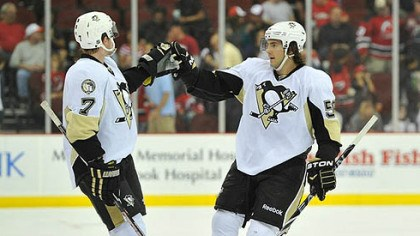 Paul Martin and Kris Letang Penguins defensemen Paul Martin, left, and Kris Letang have combined to score 15 points this season.