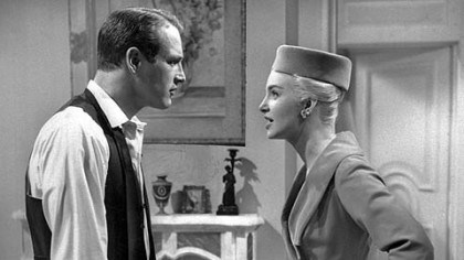 "Paul Newman and Joanne Woodward, 1960 In this 1960 photo, actors Paul Newman, left, and Joanne Woodward appear in in a scene from the film ""From the Terrace."""