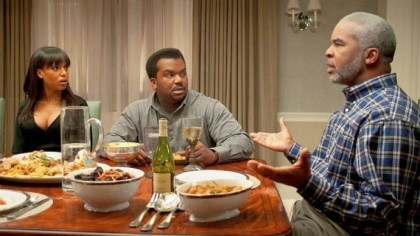 "'Peeples' Kerry Washington, Craig Robinson, center, and David Alan Grier in ""Tyler Perry Presents Peeples."""