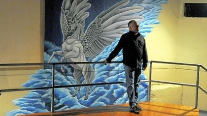 Pegasus to relocate Scott Noxon, near a mural of Pegasus, first visited the bar in 1984, and bought it in 2005.