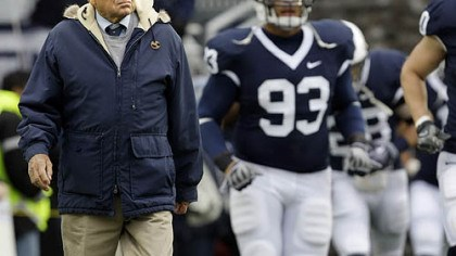 Penn State coach Joe Paterno Penn State coach Joe Paterno 2009 file photo
