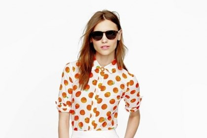 Perfect shirt Perfect shirt in citrus print, $88 at J. Crew