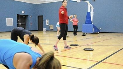 Personal trainer Sarah McDonough Personal trainer Sarah McDonough instructs her clients at the Oxford Athletic Club.