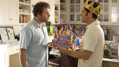 "Photo Paul Rudd, right, and Seth Rogen teamed up again this summer in the comedy ""Knocked Up."""