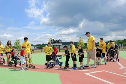 Pirates and Phillies players shake hands Pirates and Phillies players shake hands after the Miracle League game at Boyce Mayview Park in Upper St. Clair.