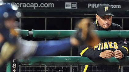 Pirates manager John Russell John Russell is 186-298 in three years as the Pirates' manager, with the season finale today in Miami.