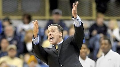 Pitt coach Jamie Dixon Pitt coach Jamie Dixon reacts to a technical foul called on Cameron Wright for hanging on the rim in the first half.