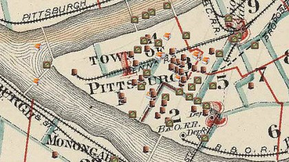 Pittsburgh Mapping and Historical Site Viewer A detail from the Pittsburgh Mapping and Historical Site Viewer home page.