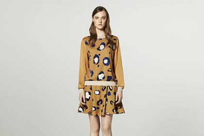 Pullover Phillip Lim for Target collection:Left: Pullover, $34.99, and silky skirt, $29.99, in animal print.