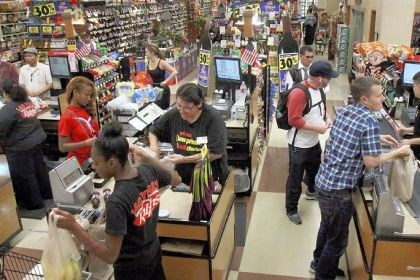 QueVision system Ralphs grocery stores in Los Angeles have adopted the QueVision system, which uses infrared cameras to determine how many customers are in a store so managers can redeploy workers to the cash registers.