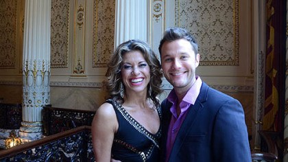 "Rachelle Rak and Matthew Hydzik Rachelle Rak and Matthew Hydzik, both formerly of the Pittsburgh area, at the launching of ""Flashdance -- The Musical"" at Heinz Hall."