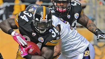 Rashard Mendenhall picks up yardage Rashard Mendenhall picks up yardage against the Ravens Sunday at Heinz Field. Mendenhall finished with 79 rushing yards on 25 carries with two touchdowns.